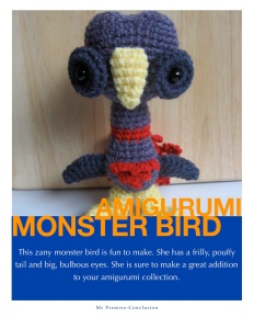 Amigurumi Monster Bird Pattern