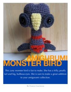Amigurumi Monster Bird Pattern