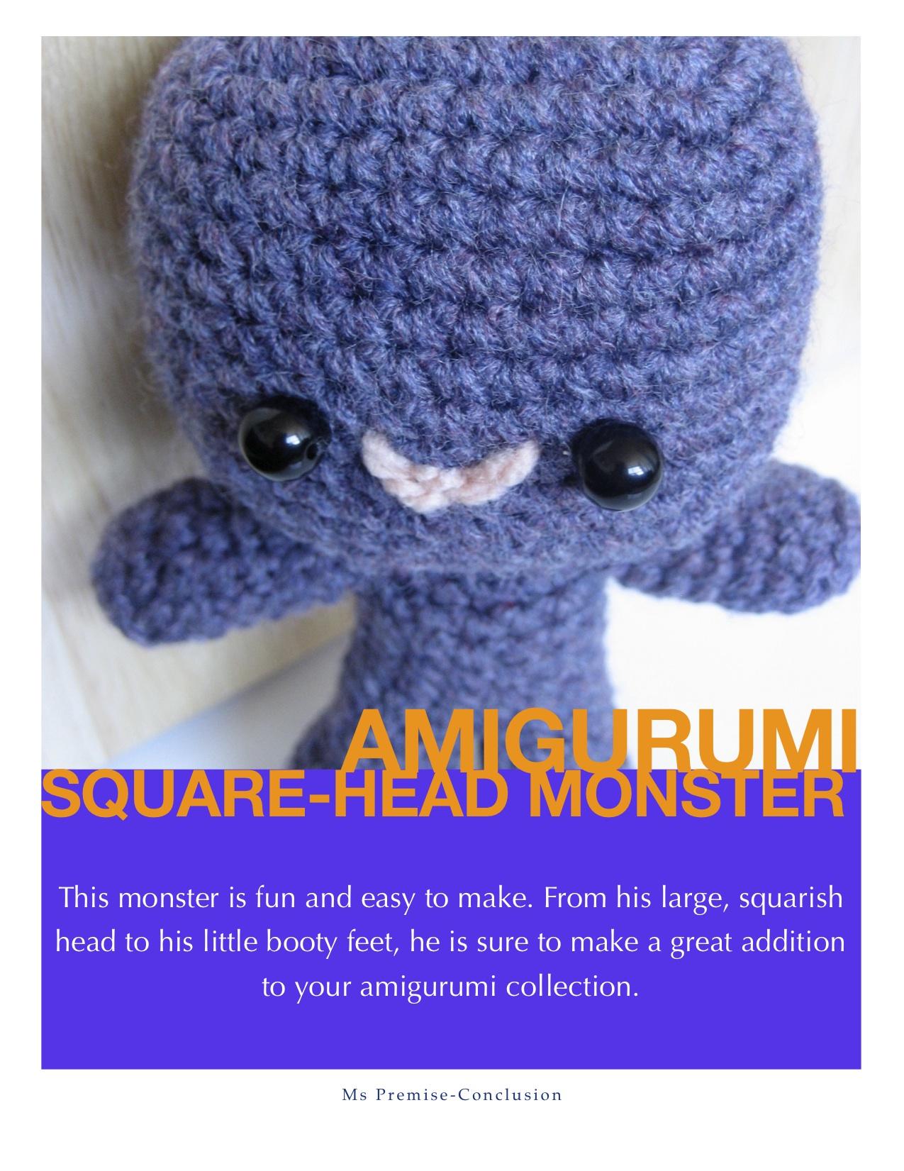 Amigurumi Square-Head Monster Pattern