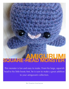 Amigurumi Square-Head Monster Pattern