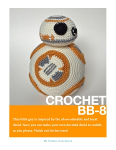 Crochet BB8 Cover