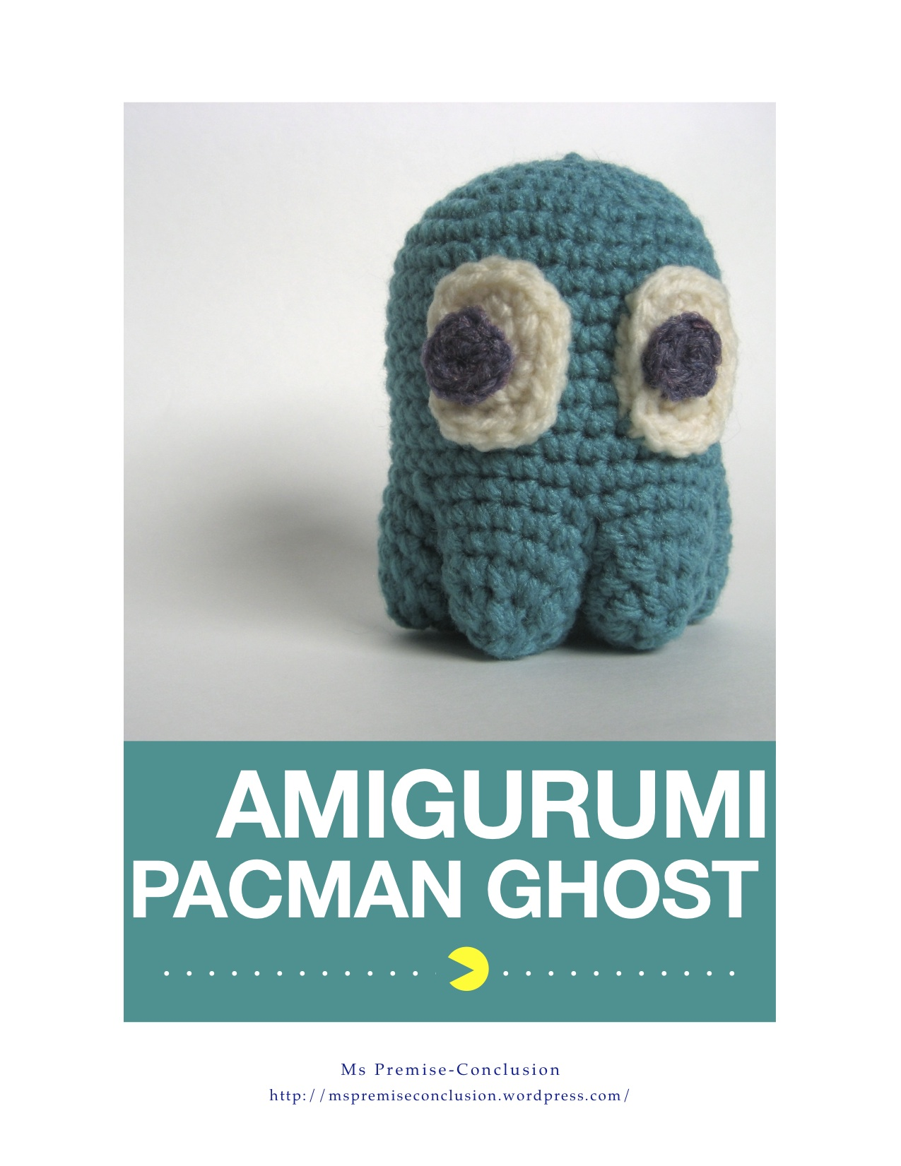 Amigurumi Ghost : Pacman Ghost Pattern! Ms Premise-Conclusion