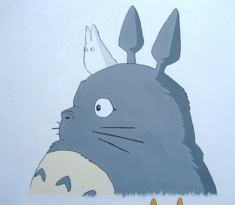 Totoro Painting Close