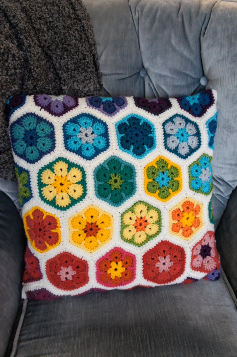 African Flowers Pillow
