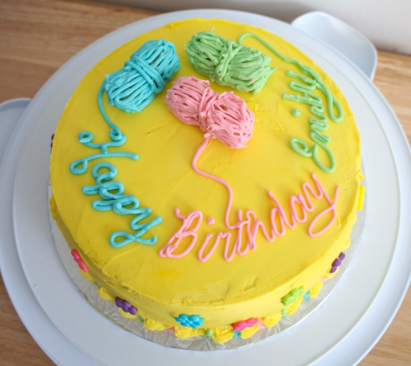 Yarn Birthday Cake