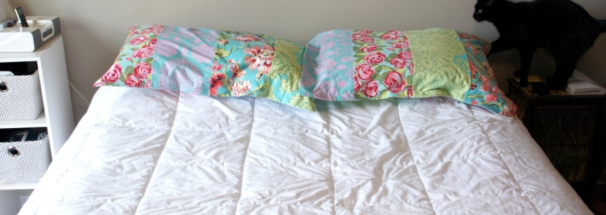 Pillow Cases on Bed