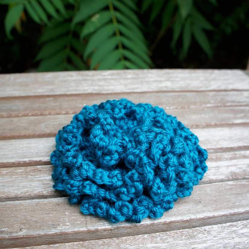 Frilly Teal Rose