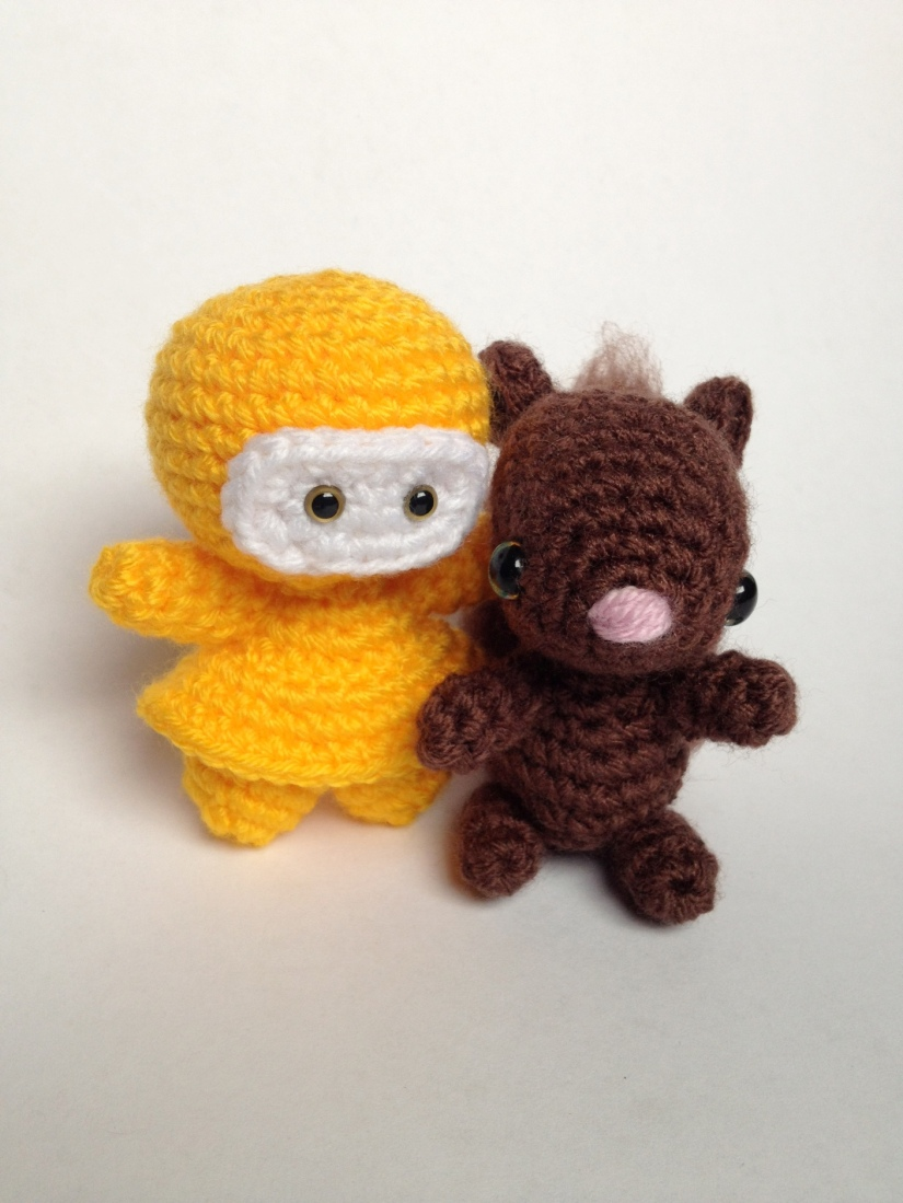 Yellow Ninja and Squirrel