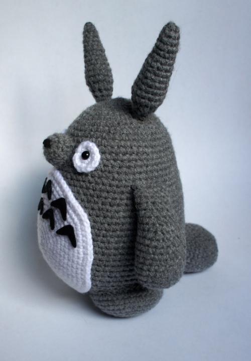 Totoro Amigurumi Side View