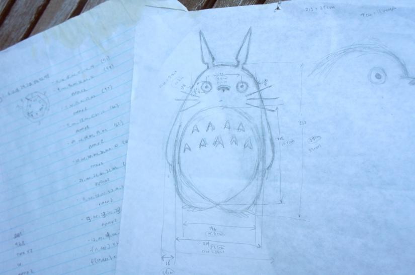 Totoro Pattern Scribbles