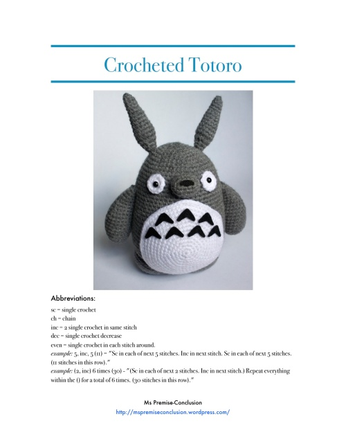 Totoro Pattern Picture