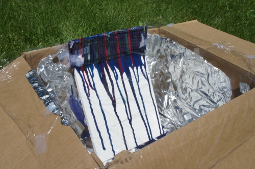Crayon Painting in Solar Cooker