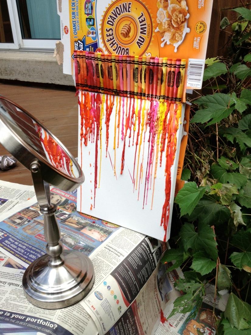 Melting Crayons with Parabolic Mirror
