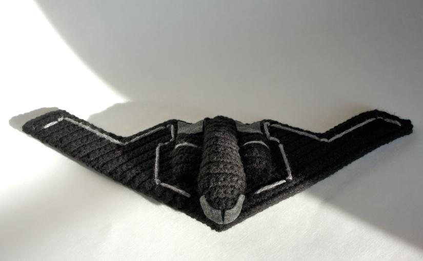 Crochet Stealth Bomber 1