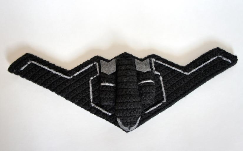 Crochet Stealth Bomber 3