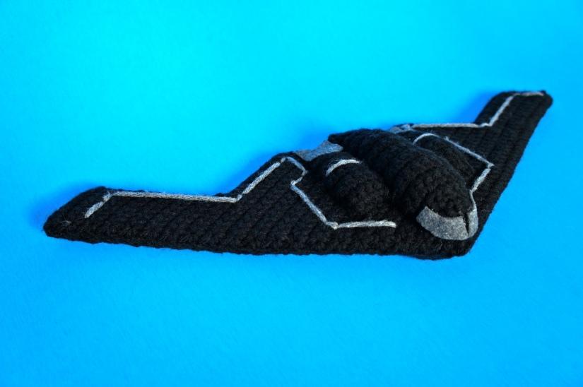 Crochet Stealth Bomber Blue