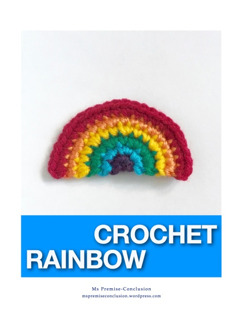 Crochet Rainbow Cover