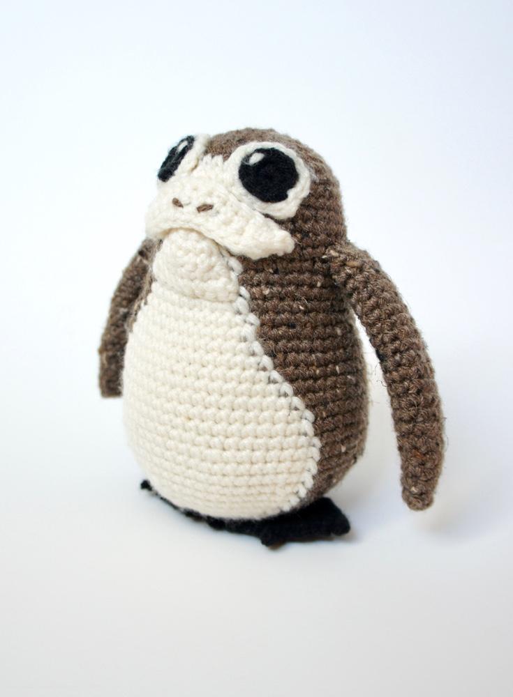 Crochet Brown Porg