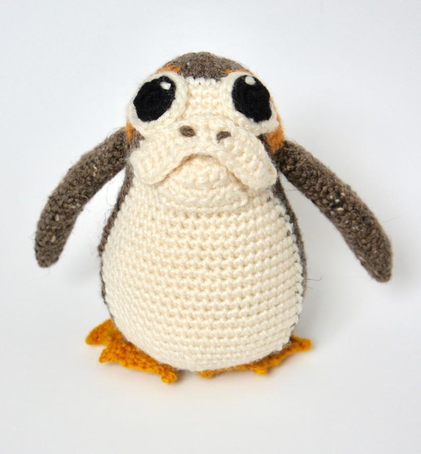 Crochet Orange Porg